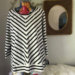 NWT Style & Co Striped sweatshirt